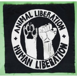 Human Liberation Animal Liberation Patch