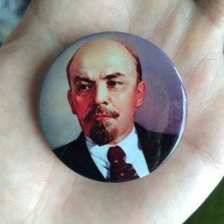 Lenin Vladimir Ilich badge pin button chapa