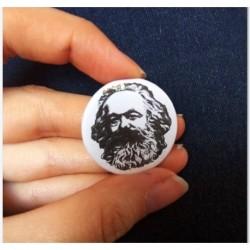 Karl Marx button pin badge chapa