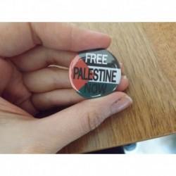 Free Palestine Now badge button pin chapa