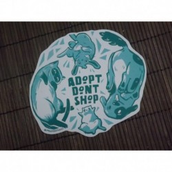 Adopt dont shop animals sticker