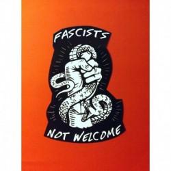 Fascist not welcome sticker antifa