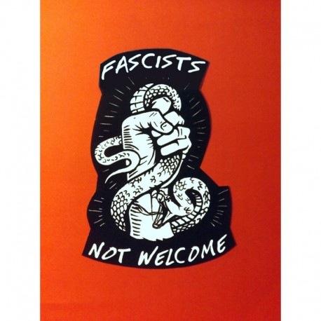 Fascist not welcome sticker antifa
