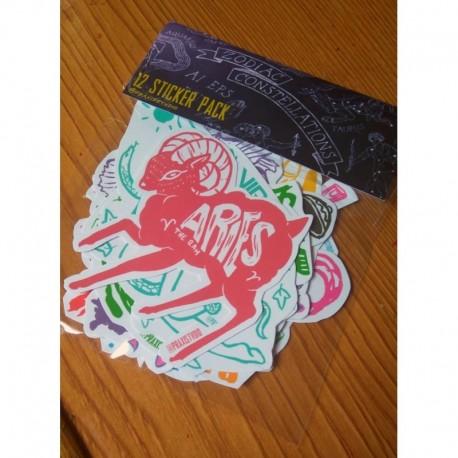 Zodiac Horoscope sticker pack 12