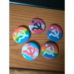 LGBT Pride Communist buttons badges
