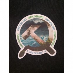 Serve the people Save the planet sticker