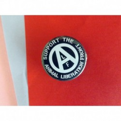 Support de ALF Animal Liberation Front Veganism Vegan Animal rights badge button pin
