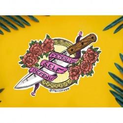 Feminist self defense sticker