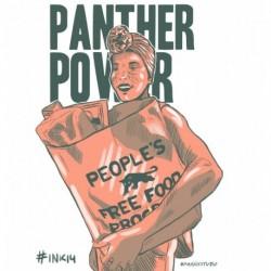 Panther Power Second Version original art from Inktober 2018