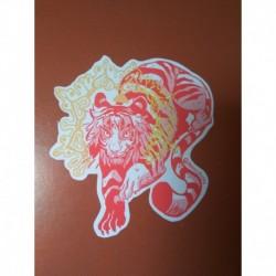 Tiger Dragon beast sticker