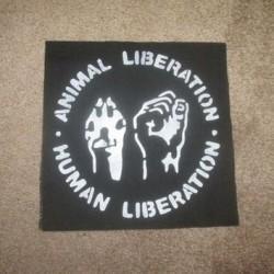 Animal liberation Human liberation vegan patch