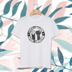 Animal liberation Human Liberation vegan t shirt