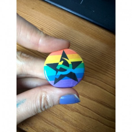 LGBT communist star button badge pin