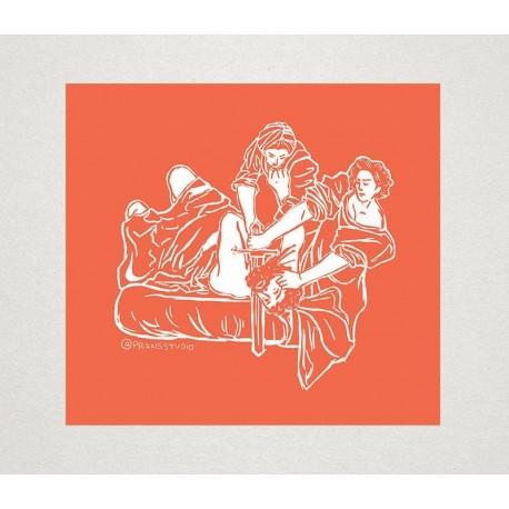 Judith Slaying Holofernes Artemisia Getileschi sticker