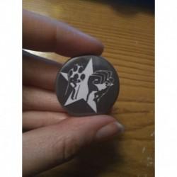 Animal Liberation Human Liberation vegan badge button pin