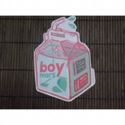 Boy tears feminist stickers