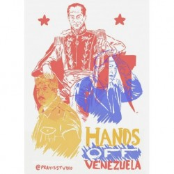 Hands off venezuela art print original
