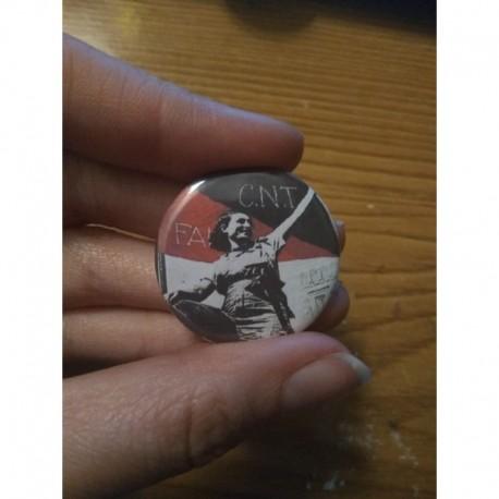 CNT-FAI Spanish Civil War chapa pin badge button