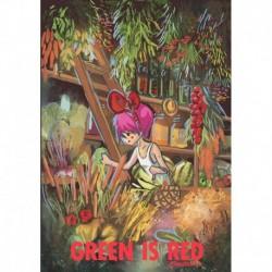 Green is red original artwork print