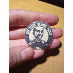 Malcolm X vintage badge pin
