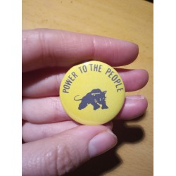 Power to the people Black Panther Party badge pin chapa