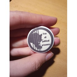 Free all political prisoners badge black panthers blm pin