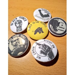 Vintage Black Panthers badge pack 6pcs
