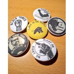 Vintage Black Panthers badge pack 6pcs