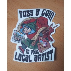 Toss a coin to your local artist sticker