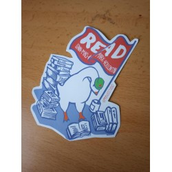 Read! Marx, Lenin, Mao, Kollontai sticker goose