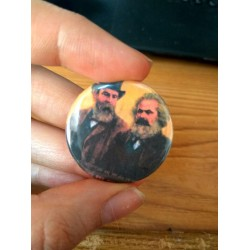 Marx Engels badge pin button chapa
