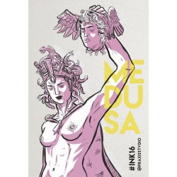 Medusa & Perseo, original art print poster