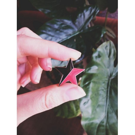 Anarcho communist syndicalist star enamel pin