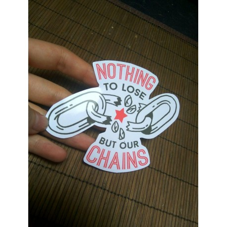 Nothing to lose but our chains Marx sticker