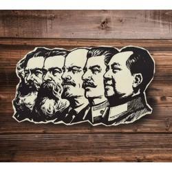 Lenin, Mao, Stalin, Marx, Engels sticker