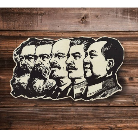 Lenin, Mao, Stalin, Marx, Engels sticker