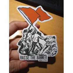 Raise the banner leftist socialist sticker