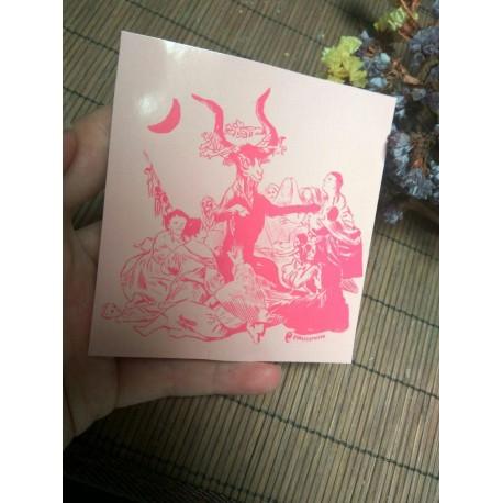 The Sabbath Witches Goya sticker