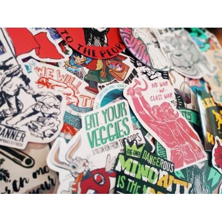 Leftist sticker bundle pack