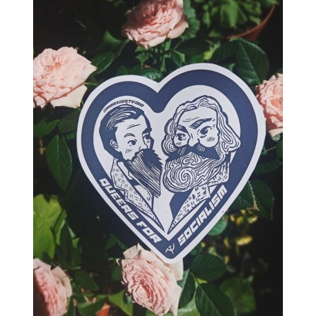 Queers for socialism leftist marx engels sticker