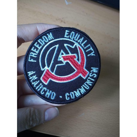 Ancom Anarchocommunism Freedom Equality embroidered patch