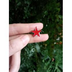 Red Star enamel pin socialist communist