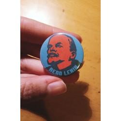 READ LENIN badge button chapa
