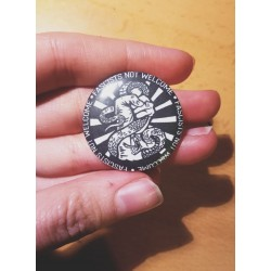 Fascists not welcome chapa badge button 32mm