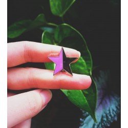 Anarcho feminist star enamel pin