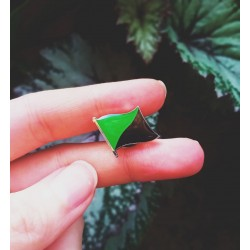 Ecology anarchist flag green enamel pin