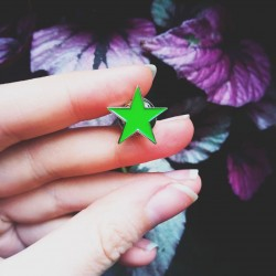 Green star ecology soft enamel pin