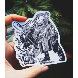The beast is not invincible sticker