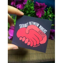 Solidarity between workers always sticker