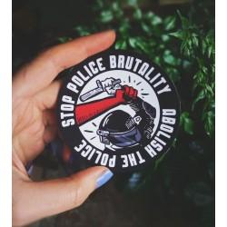 Stop police brutality, abolish the police sticker antifa